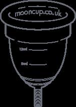Illustrazione della coppetta mestruale Mooncup