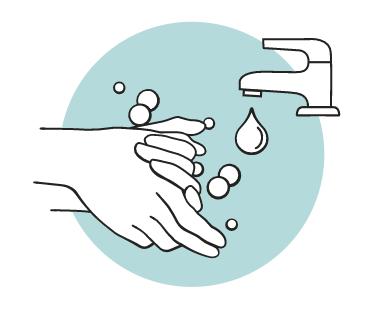 Lava le mani prima di inserire e rimuovere la tua Mooncup®